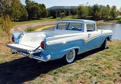 1957 Ford Ranchero / Wire Wheel-covers were a pricey option 'Back in the day...'