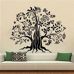 Wall Decals Tree Decal Vinyl Stickers  Nursery Bedroom Window Door Room Home Decor Art Murals Ah161