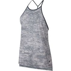 Nike Women's Breathe Training Tank Top (Thunder Blue/Heather/Black, Size Small) - Women's Athletic Apparel, Women's Athletic Performance Tops at Ac...