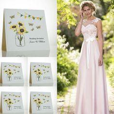 Sunflower wedding invitations.