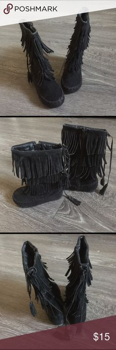 Moccasins Girls 7c black moccasin Shoes Boots