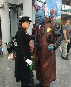 """""""I'm Marry Poppins y'all!"""" One of the best cosplayer teams this year! #GuardiansoftheGalaxy #Yondu #MaryPoppins #GotG #GuardiansoftheGalaxyVol2 #ImMaryPoppinsYall #NYCC #NYCC2017 #NewYorkComicCon #cosplay #cosplayer #cosplayers"""