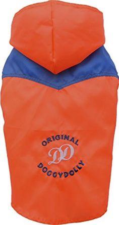 Aus der Kategorie Regenjacken  gibt es, zum Preis von EUR 34,90  Ärmelloser DoggyDolly Hunderegenmantel Big Dog Orange für große Hunde - Leichter DoggyDolly Hunderegenmantel orange - Hundebekleidung für Hunde, die nicht gerne Hundebekleidung tragen und nicht in den Regen wollen. Der Hunderegenmantel ohne Ärmeln ist leicht anzuziehen. Es kann regnen, so viel es will, Ihr Hund wird trocken bleiben und die lästigen Regentropfen nicht mehr spüren. - Diese Doggy-Dolly Hundebekleidung ist ohne…
