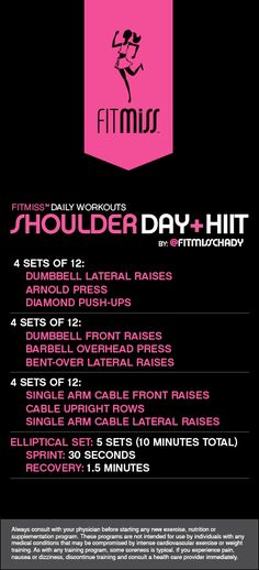 FitMiss Shoulder Day & HIIT Workout
