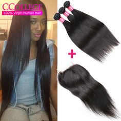 Cheap straight hair with closure, Buy Quality hair with closure directly from China unice hair with closure Suppliers: Brazilian Virgin Straight Hair With Closure 4 Bundles With Closure Straight Mink Brazilian Hair Hot Unice Hair With Closure Unice Hair, Hair Weft, Black Hairstyles, Straight Hairstyles, Mink Brazilian Hair, Cheap Human Hair, China, Closure, Hair Styles
