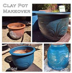 Super Easy Clay Pot Makeoever