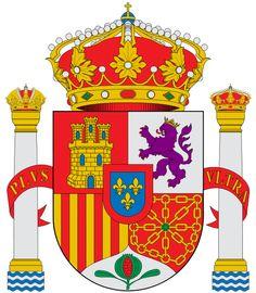 Escudo constitucional Biblical Symbols, Spain Flag, Tartan, Running Of The Bulls, The Catacombs, Family Crest, Names Of Jesus, Coat Of Arms, Pilgrim