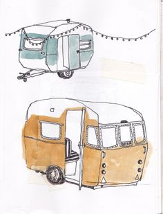 Sketchbook - caravans www.sannyvanloon.com