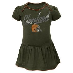 Browns Baby Dazzle Bodysuit Dress  Cleveland  Browns  Infant  Baby  Toddler    8fe42b092