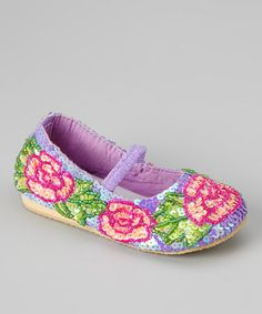 Take a look at this Light Purple Sequin Rose Flat by Fairy Dreams on #zulily today!