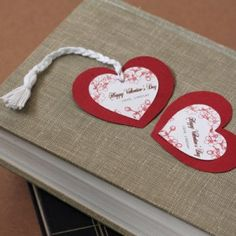 DIY Heart Shaped Bookmarks! Pin leads you back to instructions! Fun.
