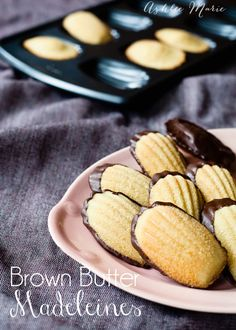 I didn't try madeleines until I was an adult, a cake style of cookie they are so pretty and dipped in chocolate for added sweetness