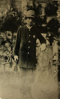 Virgil Earp on a sixth plate tintype. This image was highly likely taken around the late eighties when he was Marshall of Colton California. Original image from the collection of P. W. Butler.