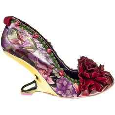 Irregular Choice Missing Link Shoes (Burgundy) ($160) ❤ liked on Polyvore featuring shoes, evening shoes, holiday shoes, irregular choice shoes, cocktail shoes and special occasion shoes