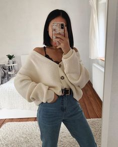 Outfits Outfit-Idee - Outfit-Ideen - Kleidung, Will the Democrat Teenage Outfits, Edgy Outfits, Casual Winter Outfits, Winter Fashion Outfits, Mode Outfits, Simple Outfits, Look Fashion, Fall Outfits, Young Fashion