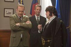 "Bob Odenkirk as President Richard Nixon, left, Jack McBrayer as advisor H.R. Haldeman, and Jack Black as Elvis in the season premiere of Comedy Central's ""Drunk History."""