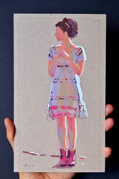 Lena Rivo's Painting Blog: Rainbow Girl