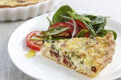 Cheesy tuna & sun-dried tomato quiche main image