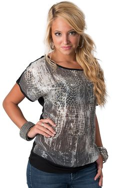 b43b81cf532 Sinful™ by Affliction® Women s Black Annabelle Long Sleeve Sweater Tunic