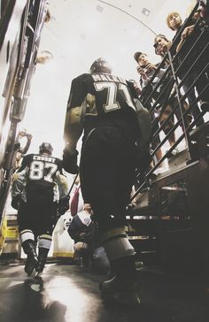 Sidney Crosby and Evgeni Malkin
