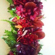 Red liko lehua, a'ali'i, lehua blossoms and ferns