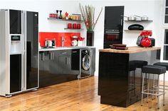 cocina en negro y blanco
