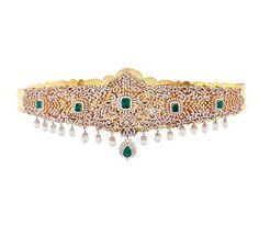 Wedding Jewellery Inspiration, Indian Wedding Jewelry, Indian Jewelry, Vaddanam Designs, Waist Jewelry, Gold Jewellery Design, Diamond Jewelry, Gold Jewelry, Diamond Bangle