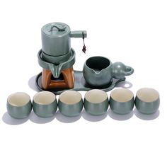 HOT TEA SET ASIAN PACKING LIST:Porcelain Tea Set Blue Including 1 tea pot+1 tea bowl+1 tea plate+6 tea cup;  • CHINA TEA SET CAPACITY:Kong fu Tea Cup 100ml,Tea Pot 140ml,Tea Bowl 230ml;Standard Size But Not Mini.Proper for Family Party,Friend Reception in Home,or Relax In Leisure time During Business Negotiation in Office.  • TEA SET ANTIQUE STYLE:Automatic Imitation stone design,Perfect Combination of Stone and Porcelain Base ,Classical ,Elegant and Interesting.