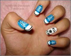 Back To School Nail Art Tips | AmazingNailArt.org ==> Since I work at a shoe store, this would be the perfect way to promote sales. People are ALWAYS asking about my nails.