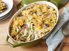 Tuna Noodle Casserole - Kelsey tosses olive oil-packed tuna in a fragrant sherry-soy sauce instead of canned mushroom soup for a sophisticated take on the after-school classic.