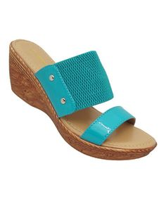 Another great find on #zulily! Teal Amanda Platform Sandal #zulilyfinds