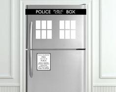TARDIS/Police Box Refrigerators Kit  Fits all by HempandVinyl, $24.00