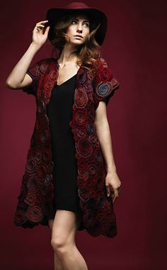 Irish lace, crochet, crochet patterns, clothing and decorations for the house, crocheted. Crochet Coat, Crochet Jacket, Crochet Motif, Irish Crochet, Crochet Clothes, Crochet Patterns, Crochet Ideas, Ethnic Fashion, Womens Fashion