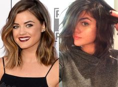Lucy Hale from Celebrity Haircuts: The Bob  From short to shorter! Lucy's ombré lob is officially a dark brown bob.