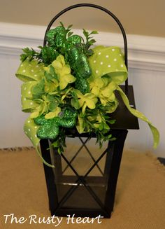 St Patrick's Day Lantern by TheRustyHeart on Etsy, $19.99