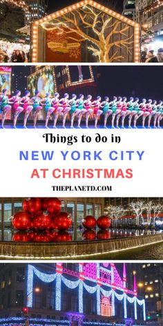 Christmas in New York 2019 - 14 Best Things to do in NYC for the Holidays New York City Vacation, New York Travel, New York Weihnachten, New York City Christmas, Stuff To Do, Things To Do, Nyc Fall, Shows In Nyc, Winter Instagram