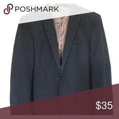 Men's Haggar Blazer Slim fit blazer, charcoal gray, perfect essential blazer Suits & Blazers Sport Coats & Blazers