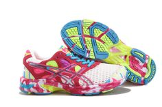 Asics Gel Noosa Tri 7 Women's Running Shoes Whie Sport Red Turquoise White