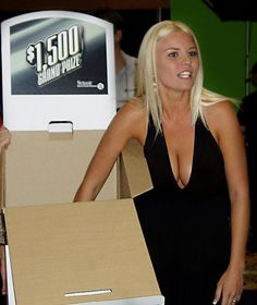 """""""Prize Booth Babe"""" at Sybase's 2007 TechWave modified by The GIMP"""