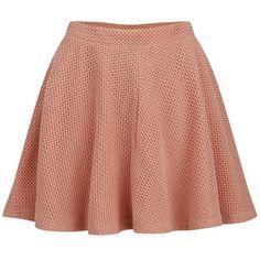 Paul & Joe Sister Women's Amulette Skirt - Coral (195 PEN) ❤ liked on Polyvore featuring skirts, bottoms, faldas, pink, red skater skirt, pink high waisted skirt, red skirt, high waisted skater skirt and pink circle skirt