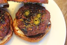 Our Good Life: Cream Cheese Burger with Candied Jalapenos