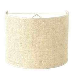 """10"""" Burlap Shield Shade with Bulb Clip- 2 Colors"""