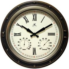 Forecaster Outdoor Wall Clock 16""""