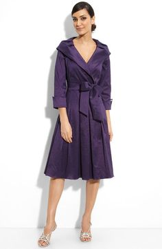 Free shipping and returns on Eliza J Faux Wrap Shantung Dress at Nordstrom.com. A flattering portrait collar tops a faux-wrap dress styled with an elegant box-pleated skirt and removable, waist-defining belt.