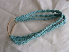 Sea Green Crochet Cotton Headband