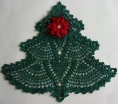free crochet patterns with size 10 thread christmas - Google Search