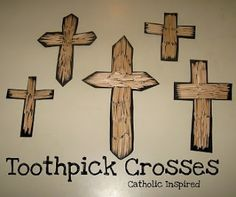 Toothpick Crosses {Fun, easy, and pretty!} | Catholic Inspired ~ Arts, Crafts, and Activities!