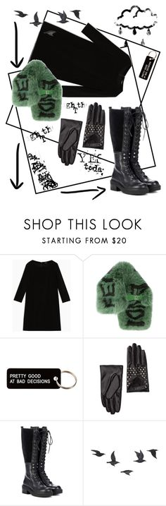 """черный"" by transtetik ❤ liked on Polyvore featuring Max&Co., Fendi, Various Projects, David & Young, See by Chloé and Jayson Home"