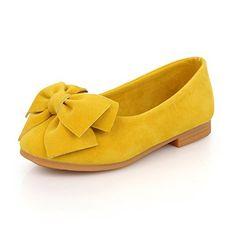 Maxu Little Girl's Yellow Bow Mary Jane Dress Shoe,Little Kid,11.5M List Price: $22.99 Sale Price:$12.99 #LittleGirl #Yellow