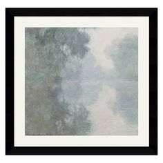 Have to have it. The Seine at Giverny, Morning Mists, 1897 Framed Wall Art - 28.87W x 27.87H in. $169.99